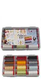 Aurifil Thread Flats Collection 12 Large 12wt Cotton Spools By Angela Yostens AY12FL12