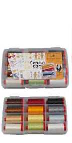 Aurifil Thread Flats Collection 12 Large 50wt Cotton Spools By Angela Yostens AY50FL12