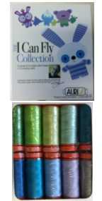 Aurifil I Can Fly Blue Colorway Collection 10 Small 50wt Cotton Spools By Mark Lipinski BC50ML10