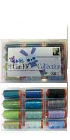 Aurifil I Can Fly Blue Colorway Collection 12 Large 50wt Cotton Spools By Mark Lipinski BC50ML12