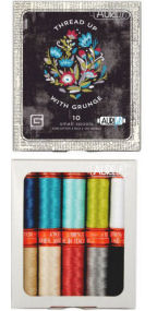 Aurifil Thread Up With Grunge Collection 10 Small Spools Basic Grey BG50GC10