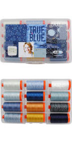 Aurifil True Blue Collection From Bridgitte Heitland 12 Large Spools BH50TB12