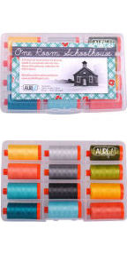 Aurifil One Room Schoolhouse Collection From Brenda Ratliff 12 Large Spools BR50ORS12