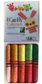 Aurifil I Can Fly Citrus Colorway Collection 10 Small 50wt Cotton Spools By Mark Lipinski CC50ML10