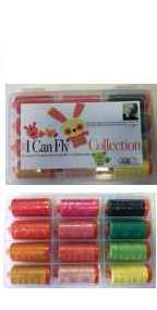 Aurifil I Can Fly Citrus Colorway Collection 12 Large 50wt Cotton Spools By Mark Lipinski BC50ML12
