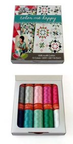 Aurifil Thread Color Me Happy Small 50wt Spools by Vanessa Christenson CH50VC10
