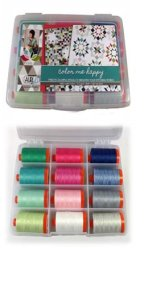 Aurifil Thread Color Me Happy Large 50wt Spools by Vanessa Christenson CH50VC12bds