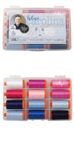 Aurifil Blue Carolina Collection 12 Large Spools Christopher Thompson CT50BC12