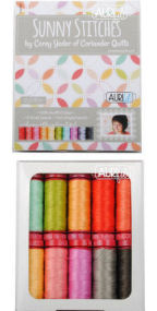 Aurifil Sunny Stitches Collection 10 Small Spools Corey Yoder CY12SS10