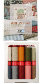 Aurifil Timeworn Toolbox Collection 10 Small Spools Dolores Smith DS12TTWE10
