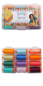 Aurifil Southern Blooms Collection 12 Large Spools Ebony Love EL50SB12