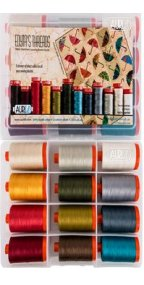 Aurifil Dancing Umbrellas Collection From Edyta Sitar 12 Large Spools ES50DU12