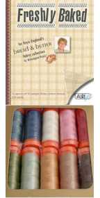 Aurifil Freshly Baked Set 10 Small 50wt Cotton Spools By Kaye England FBK10