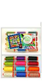 Aurifil Fruits N Veggies Collection 12 Large 50wt Cotton Spools By Pat Sloan FV50PS12