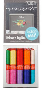 Aurifil Helena's Toy Box Collection 10 Small Spools Helena Boudreaux HB50HTB10