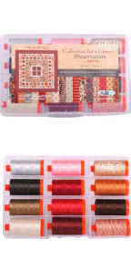 Aurifil IQSCM Preservation Collection From Moda 12 Large Spools IQSCM50PC12