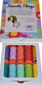 Aurifil Favourite Things Collection 10 Small 50wt Cotton Spools by Jeni Baker JB50FT10