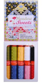 Aurifil Meadow Sweets Collection From Jill Finley 10 Small Spools JF50MS10