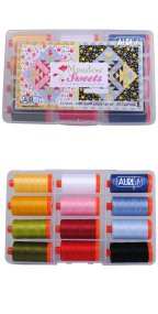 Aurifil Meadow Sweets Collection From Jill Finley 12 Large Spools JF50MS12