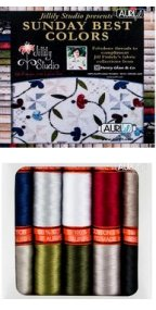 Aurifil Sunday's Best Colors Collection From Jill Finley 10 Small Spools JF50SB10