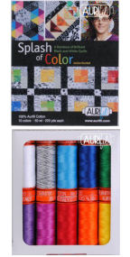 Aurifil Splash of Color Collection From Jackie Kunkel 10 Small Spools JK50SC10