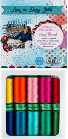 Aurifil Fancy Treads Collection From Jennifer Paganelli 10 Small Spools JP40FT10