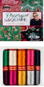 Aurifil Priory Square Collection From Katy Jones� 10 Small Spools KJ50PS10