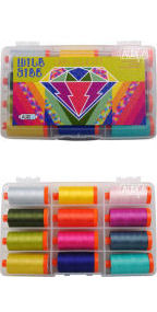 Aurifil Wild Side Collection From Libs Elliott 12 Large Spools LE50WS12