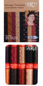 Aurifil Kansas Troubles Collection From Lynne Hagmeier 10 Small Spools LH50KT10