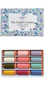 Aurifil English Garden Collection From Liberty 12 Large Spools LL50EGSP12