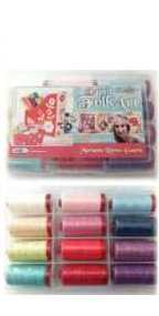 Aurifil Espirit Folk Art Set 12 Large 12wt Lana Wool Spools By Marianne Byrne MBEF12112