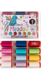 Aurifil Wildflower Meadow Collection From Melly & Me 12 Large Spools MM50WFM12
