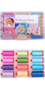 Aurifil Tropical Box Collection From McKenna Ryan 12 Large Spools MR50TB12