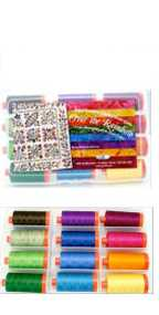 Aurifil Over The Rainbow Set 12 Large 50wt Cotton Spools By Edyta Sitar ORES1250L