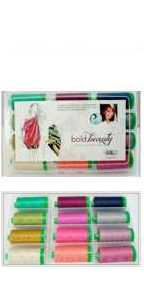 Aurifil Bold Beauty Kit 12 Large 40wt Cotton Spools By Pat Bravo PB40BB12