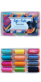 Aurifil Fifi and Fido Collection From Kathy Engle 12 Large Spools PF50FF12