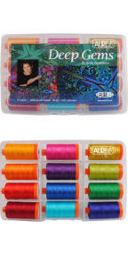 Aurifil Deep Gems Collection From Paula Nadelstern 12 Large Spools PN50DG12