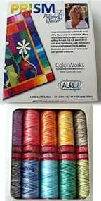 Aurifil Prism Collection 10 Small 12wt Cotton Variegated Spools By Michele Scott PQ12MS10