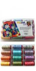 Aurifil Prism Collection 12 Large 12wt Cotton Variegated Spools By Michele Scott PQ12MS12