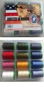Aurifil Quilted In Honor 50wt Cotton Thread Collection QH50L12