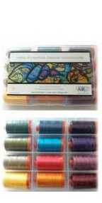 Aurifil SAQA Signature Collection 12 Large 50wt Cotton Spools SAS50K12