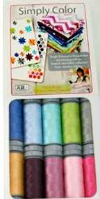 Aurifil Simply Color Set 10 Small 28wt Cotton Spools By Vanessa Christenson SC28VC10