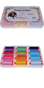 Aurifil Rainbow of Colors Collection 12 Large 50wt Cotton Spools by Shari Butler SH50RC12