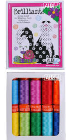 Aurifil Brilliant Collection From Sue Marsh 10 Small Spools SM50BC10