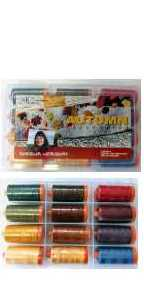 Aurifil Autumn Collection 12 Large 50wt Cotton Spools By Sheena Norquay SN50AC12BDS