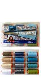 Aurifil Seascape Set 12 Large 50wt Sp By Sheena Norquay SN50SC12