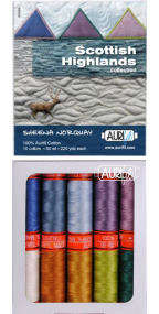 Aurifil Scottish Highlands Collection From Sheena Norquay 10 Small Spools SN50SH10