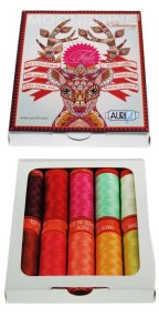 Aurifil 10 Small Spools Cotton 50wt Moonshine Strawberry by Tula Pink