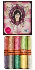 Aurifil Thread Premium Collection 10 Small 50wt Variegated Cotton Spools By Tula Pink TP50TP10