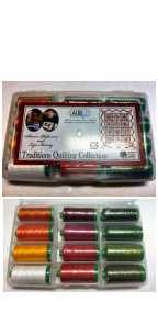Aurifil Traditions Quilting Collection 12 Large 40wt Cotton Spools By Sharon Pederson and Lyn Kenny TQC4012